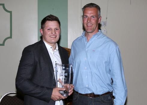 Jordan Collier with Gareth llewellyn